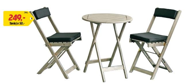 Stolik kawowy z krzesłami