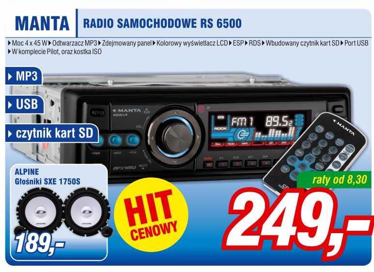 Archiwum Manta Radio Samochodowe Rs 6500 Mix Electronics 22 08