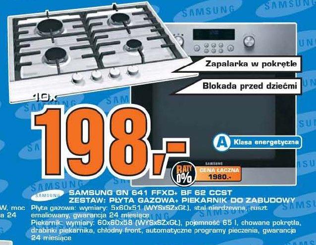 Archiwum  Samsung GN 641 FFXO+ BF 62 CCST Zestaw Płyta   -> Plyta Gazowa Do Zabudowy I Piekarnik