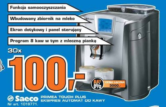 archiwum saeco primea touch plus ekspres automat do kawy saturn 04 03 2010 10 03 2010. Black Bedroom Furniture Sets. Home Design Ideas