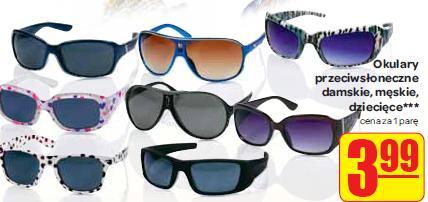 Archiwum   Okulary przeciwsłoneczne damskie, męskie