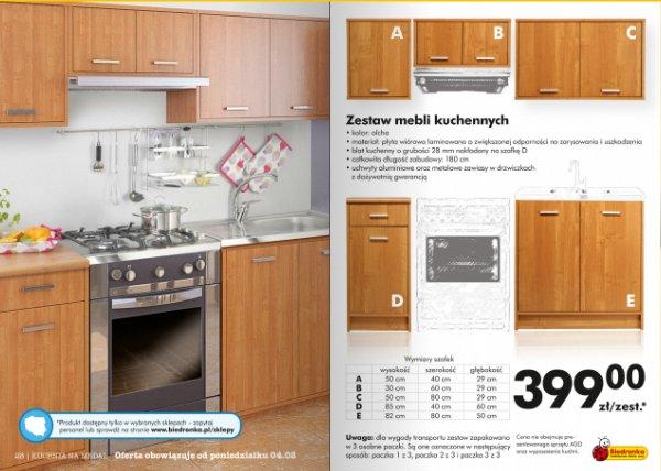 ARCHIWUM  Ceny promocyjne  meble kuchenne  ulotki   -> Kuchnia Dziecieca Z Biedronki