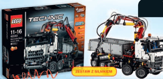 Archiwum Klocki Lego Technic Mercedes Benz Arocs 3245 42043