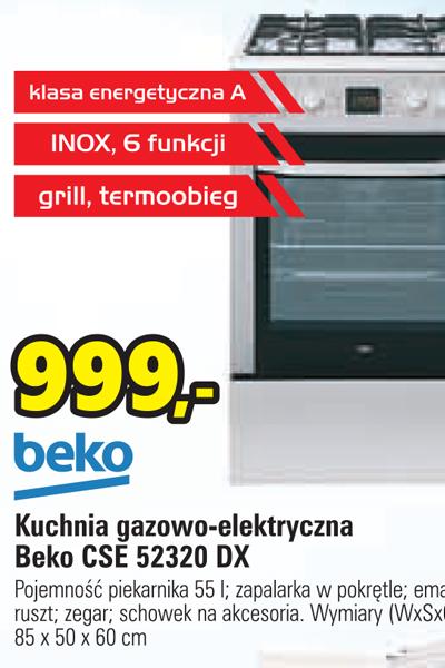 Archiwum Kuchnia Gazowo Elektryczna Beko Specjaliści Rtv