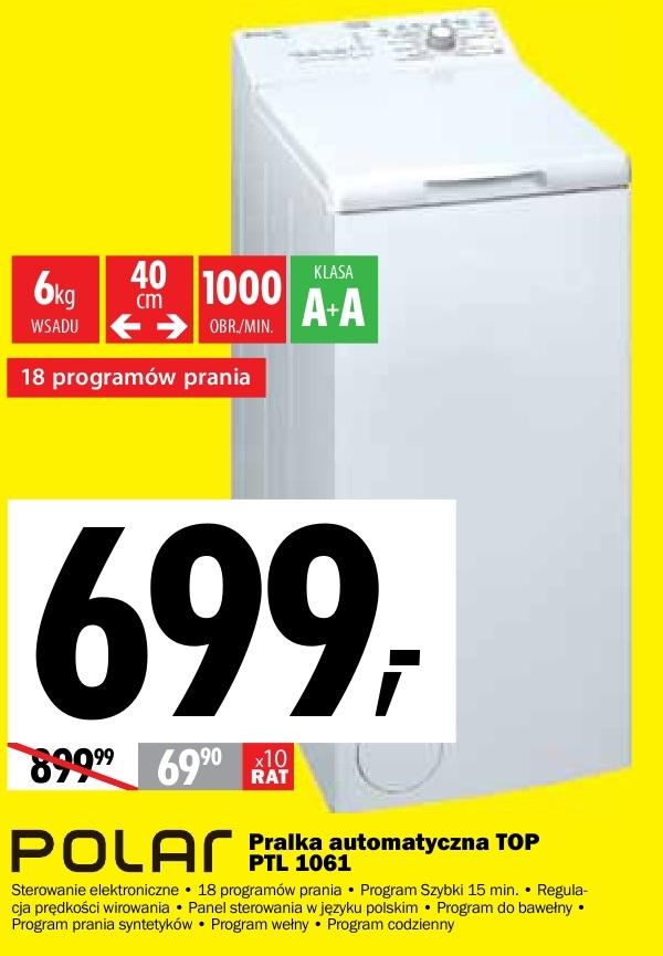 Aktualne Archiwum | Pralka automatyczna POLAR TOP PTL 1061 - Media Expert NA86