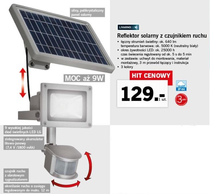 Reflektor Solarny Led Z Czujnikiem Ruchu Wmy87 Usafrica