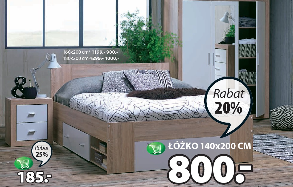 Archiwum Rama łóżka Favrbo 140 X 200 Cm Jysk 07 09