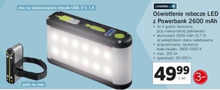 Archiwum Livarnolux Oświetlenie Robocze Led Z Powerbank