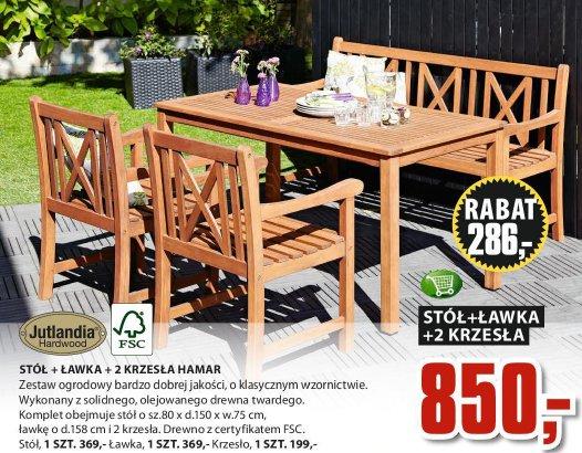 Archiwum Stół ławka 2 Krzesła Hamar Jysk 30 04